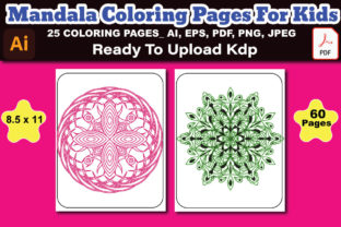 Mandala Coloring Book KDP Interior Graphic Coloring Pages & Books Kids By Design Lensed