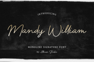 Print on Demand: Mandy William Script & Handwritten Font By allouse.studio
