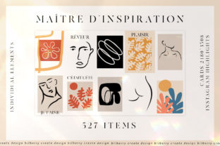 Maître De L'inspiration Art Set Graphic Illustrations By BilberryCreate