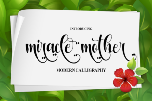 Print on Demand: Miracle Mother Script & Handwritten Font By Supersemar Letter