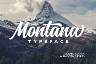 Print on Demand: Montana Script & Handwritten Font By getstudio