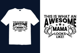 Print on Demand: Mother's Day T-shirt Design 063 Graphic Print Templates By graphicdabir