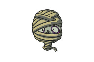 Mummy Face Halloween Embroidery Design By DigitEMB