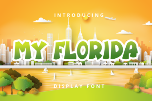 Print on Demand: My Florida Display Font By Planetz studio