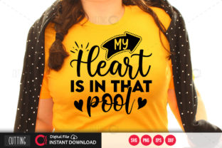 Print on Demand: My Heart is in That Pool Svg Graphic Crafts By PrintableSvg