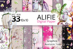 Print on Demand: Outdoor Watercolor Digital Paper Graphic Patterns By Digital Doodlers