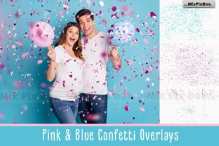 Print on Demand: Pink and Blue Confetti Overlays Graphic Layer Styles By MixPixBox