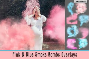 Print on Demand: Pink and Blue Smoke Bombs Overlays Graphic Layer Styles By MixPixBox