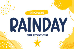 Print on Demand: Rainday Display Font By OKEVECTOR