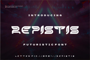 Print on Demand: Repistis Display Font By Letter Fia 1