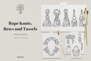 Rope Knots, Bows and Tassels Graphic Illustrations By GVGraphics