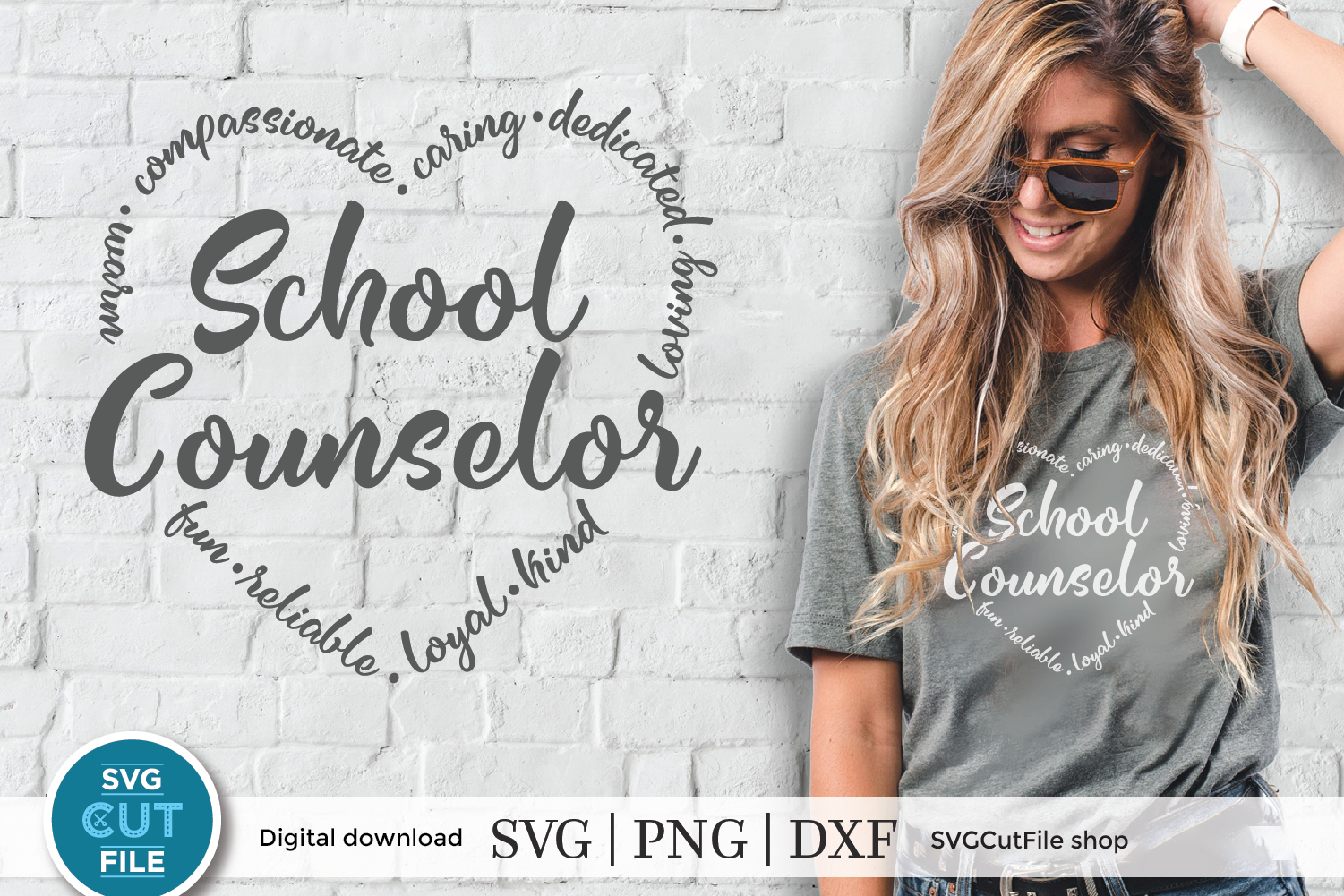 School Counselor SVG File