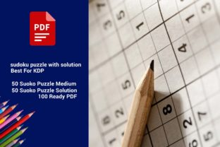 Sudoku Puzzle with Solution Best for KDP Graphic KDP Interiors By DigitalMGoods