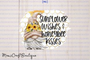 Sunflower Wishes and Honeybee Kisses Graphic Illustrations By designermomscraftboutique