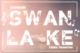 Print on Demand: Swan Lake Decorative Font By KtwoP