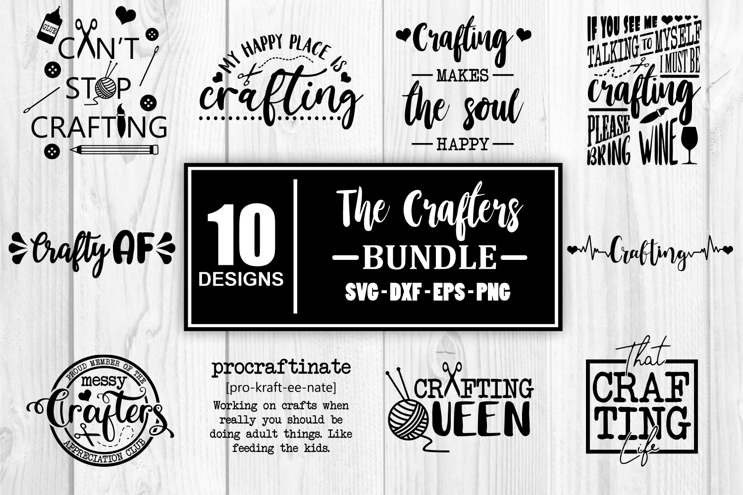 The Crafters SVG Bundle - Craft Crafting SVG File