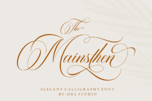 Print on Demand: The Mainsthen Script & Handwritten Font By HKL STUDIO