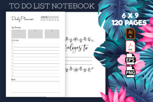 Print on Demand: To Do List Notebook - Kdp Interior Graphic KDP Interiors By Kristy Coloring