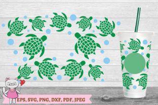 Turtle Starbucks Cup SVG Graphic Objects By  Magic world of design