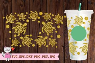 Turtle Starbucks Cup SVG Graphic Graphic Templates By  Magic world of design