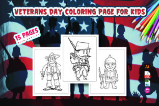 Veterans Day Coloring Page for Kids Graphic Coloring Pages & Books Kids By Moonz Coloring