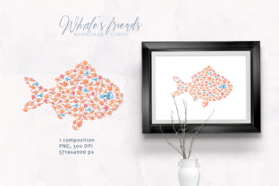 Print on Demand: Watercolor Nautical Nursery Clipart Graphic Print Templates By Tiana Geo