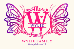 Print on Demand: Wylie Family Monogram Decorative Font By utopiabrand19