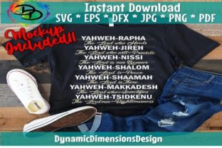Yahweh Names Graphic Print Templates By dynamicdimensions
