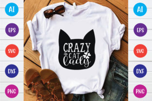 Crazy Cat Lady Graphic Print Templates By Printable Store