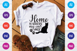 Home is Where My Cats Are Graphic Print Templates By Printable Store