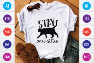 Stay Paw-sitive Graphic Print Templates By Printable Store