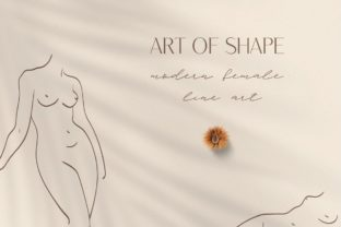 Print on Demand: Abstract Modern Female Line Art. Breast. Graphic Illustrations By Olya.Creative