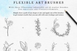 Print on Demand: Adjustable Vector Flexible Brushes. Herb Graphic Brushes By Olya.Creative
