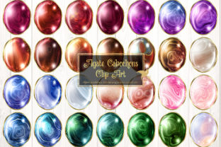 Print on Demand: Agate Cabochons Clip Art Graphic Illustrations By Digital Curio