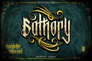 Print on Demand: Bathory Blackletter Font By brightonexart