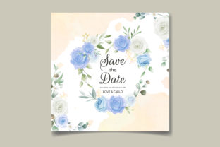 Beautiful Floral and Leaves Wedding Card Graphic Print Templates By dinomikael01