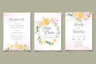 Beautiful Hand Drawn Floral Wedding Card Graphic Print Templates By dinomikael01