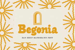 Print on Demand: Begonia Serif Font By flavortype