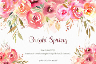 Print on Demand: Bright Spring Watercolor Clipart Graphic Illustrations By MariaScaroniAtelier