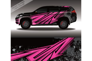 Car Decal Wrap Design Vector Rally Race Grafik Druck-Templates von 21graphic