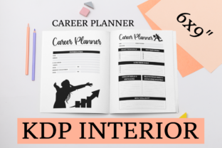 Print on Demand: Career Planner | KDP Interior Graphic KDP Interiors By KDP Mastermind