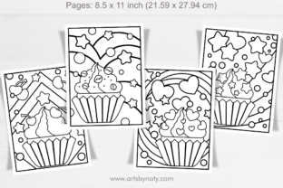 Print on Demand: Coloring Pages for Kids Cupcake Party. Graphic Coloring Pages & Books Kids By artsbynaty