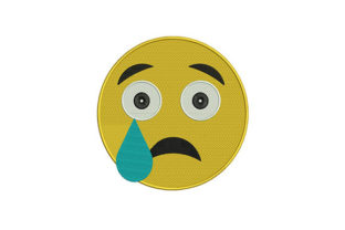 Crying Face Emoji Friends Embroidery Design By DigitEMB