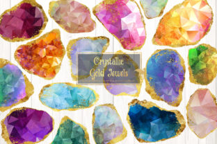 Print on Demand: Crystallic Gold Jewels Clipart Graphic Illustrations By Digital Curio