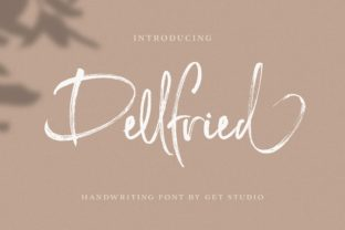 Print on Demand: Dellfried Script & Handwritten Font By getstudio