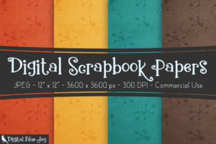 Digital Textured Paper - Retro Graphic Backgrounds By digitalbluejay