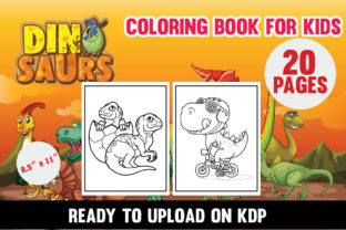 Dinosaur Coloring Book for Kids Graphic Coloring Pages & Books Kids By Tahsin_hassan
