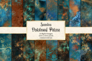 Print on Demand: Distressed Patina Textures Graphic Illustrations By Digital Curio