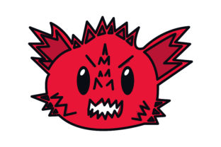 Dragon Head Cute Red Graphic Crafts By Surya