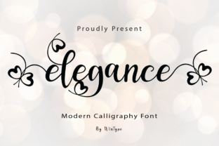 Print on Demand: Elegance Script & Handwritten Font By WinType